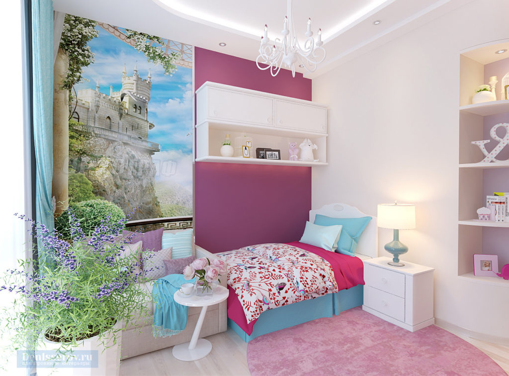 Дизайн комнаты для девочки 15 м