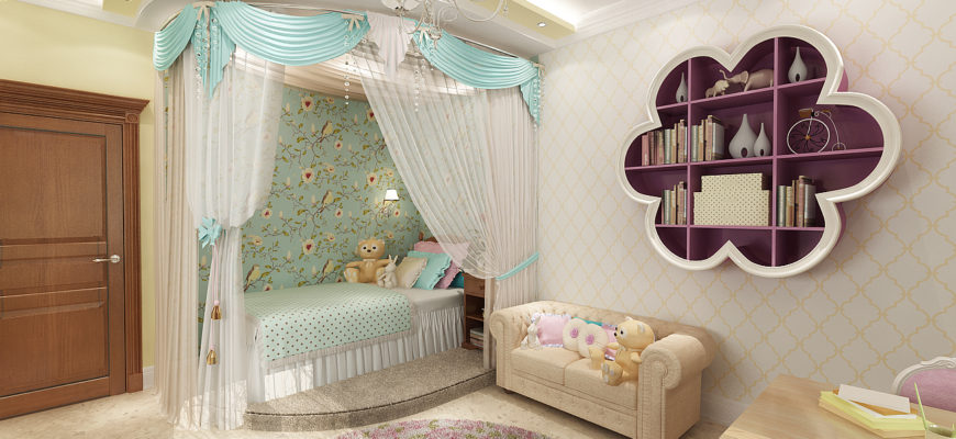 комната для девочки 20 кв м