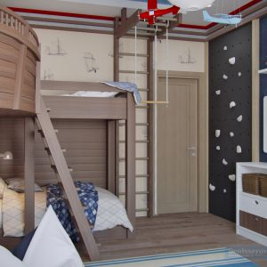 Комната мальчика в морском стиле